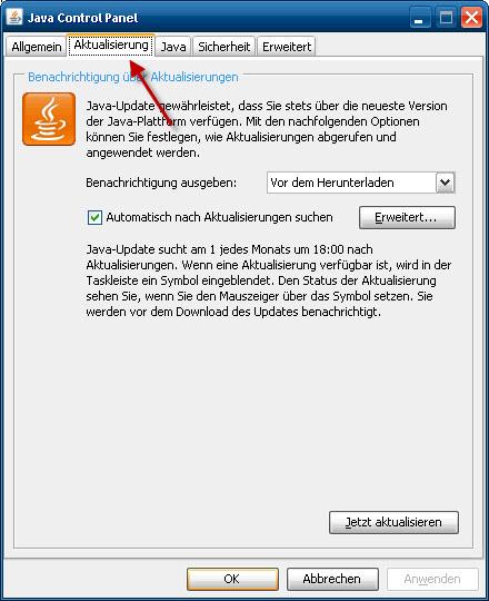 18012011_Java_Updates_aktiviert