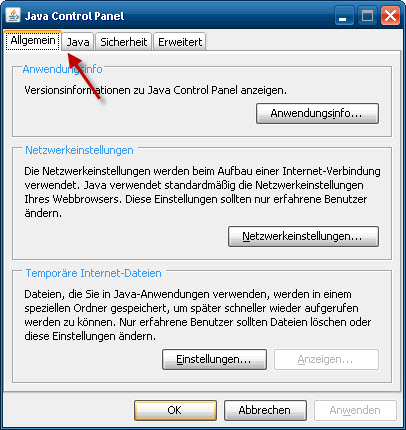 18012011_Java_Updates_deaktiviert