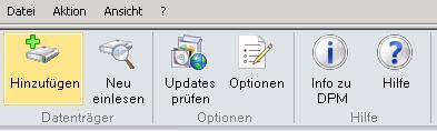 Neuen Datenträger zu DPM hinzufügen